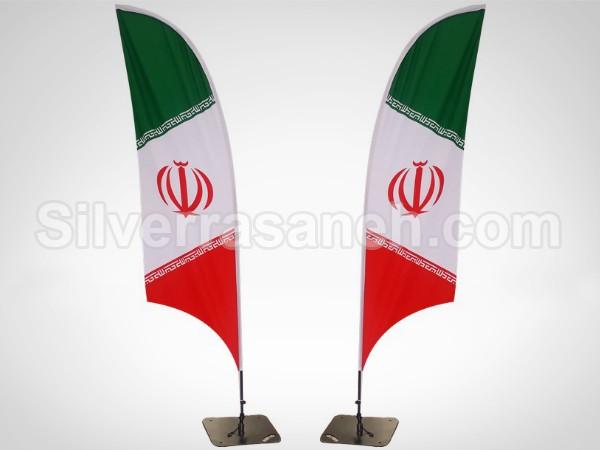 تصویر 2 استند پرچمی ساحلی کمانی